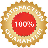 Satisfaction guarantee — Vector de stock