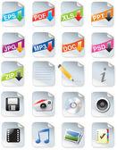 Webdesigners toolkit serie - web 2.0 iconen — Stockvector