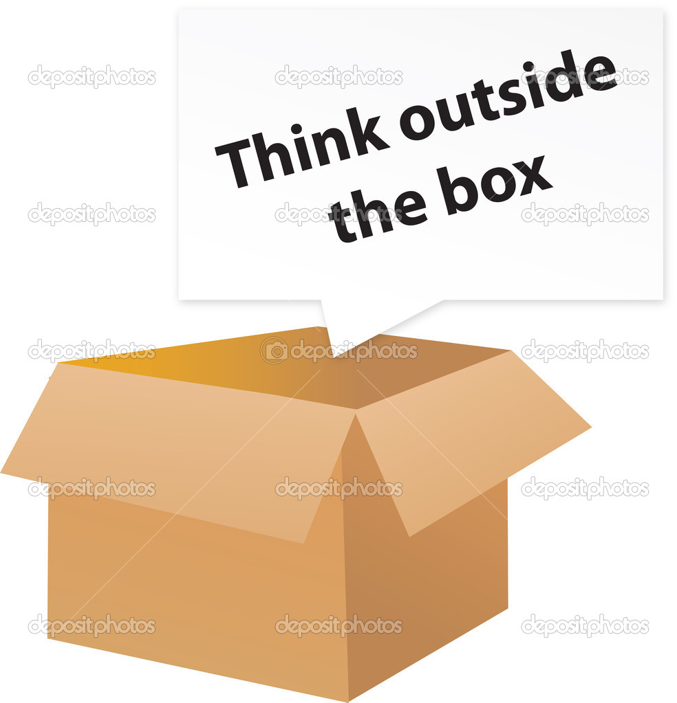 Think outside the box metaphor — Stock Vector #3052099