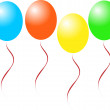 Candy balloons - Imagens vectoriais em stock