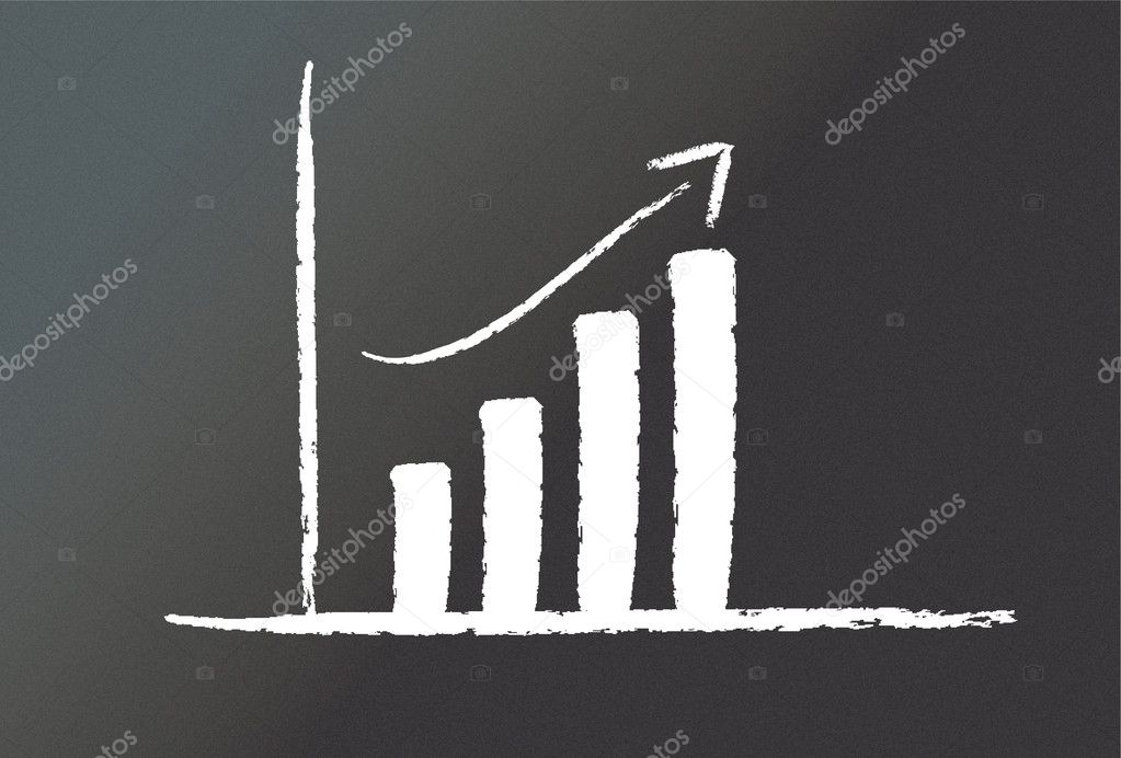A graph on a blackboard — Stock Photo #3399915