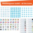 Web designers toolkit - all the icons - Stock Vector