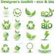 Designers toolkit - eco & bio icons — Stock vektor #3399504