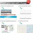 Create your own webpage — Stockvektor