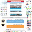 Stock Vector: Web designers toolkit - complete edition 7