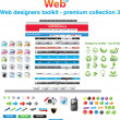 Royalty-Free Stock Imagen vectorial: Web designers toolkit - premium collection 3