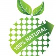 100% natural — Stock Vector