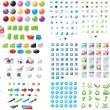 Royalty-Free Stock Vectorielle: Huge set of web graphics