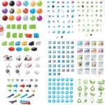 Huge set of web graphics — Stock Vector