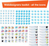 Web designers toolkit - all the icons — Stock Vector