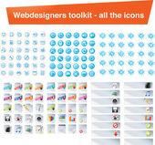 Webové designéry toolkit - všechny ikony — Stock vektor