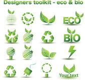Designers toolkit - eco & bio icons — Stockvektor