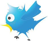 Illustrated bird — Stock Vector