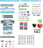 Web designer toolkit - collezione premium 2 — Vettoriale Stock