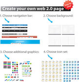 Create your own webpage — Stock Vector