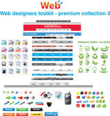 Web designers toolkit - premium collection 3 — Vector de stock