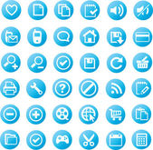 Universele iconen - blauwe editie — Stockvector