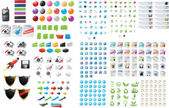 Huge set of web graphics — Stock Vector