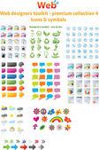 Web デザイナー ・ ツールキット - プレミアム コレクション 4 — ストックベクタ