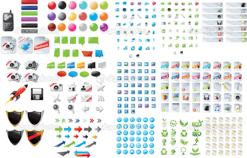 Big set of web graphics  Stock Vector #3399718