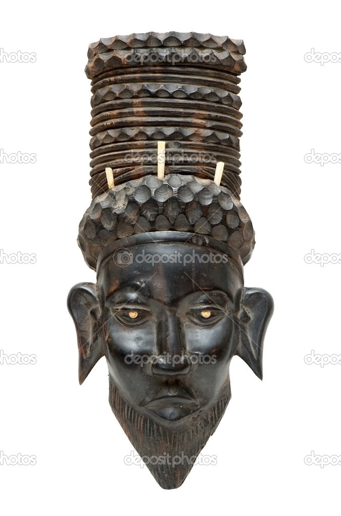 Black traditional african mask — Stock Photo #3225830