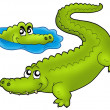 Pair of cartoon crocodiles - Stock Photo