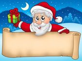 Banner with cute Santa Claus — Stock Photo