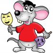 Stock Photo: Cartoon mouse actor