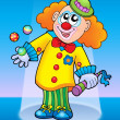 Cute happy clown - Stock Photo