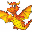 Cute red dragon — Stock Photo