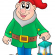 Dwarf with lantern — Stock Photo