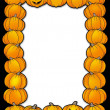Halloween frame with pumpkins - Stock Photo
