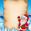 Christmas parchment with Santa Claus 5 — Stock Photo #2941284