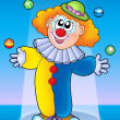 Juggling clown - Stock Photo