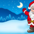 Landscape with Santa Claus 2 — Stock Photo