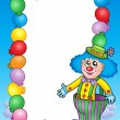 Party invitation frame with clown 7 — Stock Photo