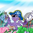 Royalty-Free Stock Photo: Pirate octopus underwater