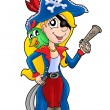 Pirate womwith parrot — Stock Photo #2942212