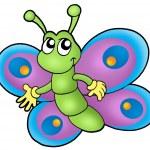 małe kreskówka motyl — Zdjęcie stockowe #2942472