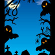 Spooky silhouette frame — Stock Photo