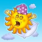 Waking up Sun on blue sky — Stock Photo