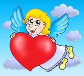 Cupid on sky — Stock Photo