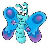 ładny motyl niebieski — Zdjęcie stockowe