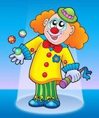 Cute happy clown — Stock Photo