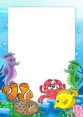 Frame with tropical fishes 2 — Stock Photo