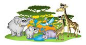 Group of African animals — Stock Photo