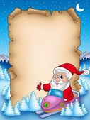 Christmas parchment with Santa Claus 6 — Stock Photo