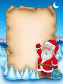 Christmas parchment with Santa Claus 5 — Stock Photo