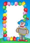 Party invitation frame with clown 6 — Stock Photo