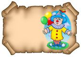 Party invitation with clown — Stock Photo